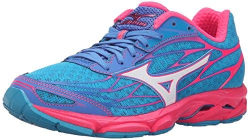 Mizuno Women's Wave Catalyst Running Shoe, Atomic Blue/White, 6.5 B US