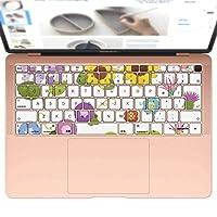 igsticker MacBook Air 13inch 2018 専用 キーボード用スキンシール キートップ ステッカー A1932 Apple マックブック エア ノートパソコン アクセサリー 保護 009229 カラフル フラワー