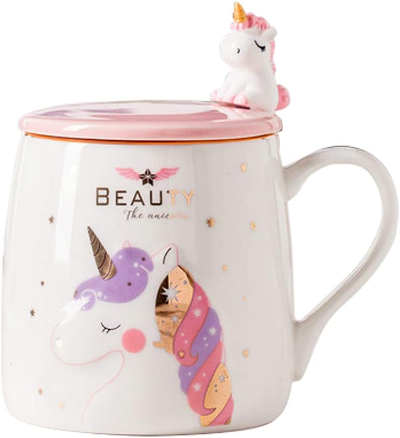 Unicorn Mug Cute Ceramic Coffee Max 65% OFF with M Max 41% OFF Spoon Lovely