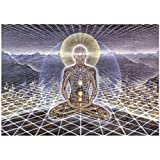 Prettygirl Theologue Trippy Alex Grey Poster Wall DecorArt Painting Poster Printed on Canvas for Wall Decoration in Living Bedroom Room officer-20x30Inch No Frame