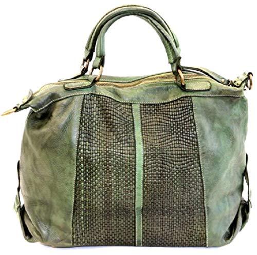 BZNA Bag Emely grün verde Italy Designer Damen Ledertasche Handtasche Schultertasche Tasche Leder Beutel Neu