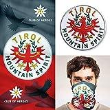 Club of Heroes Tirol Set / 1 Patch + 1 Multifunktionstuch/Aufnäher Aufbügler Sticker gestickt/Schlauchtuch Bandana Halstuch Mundschutz/Tiroler Adler Flagge Fahne Österreich