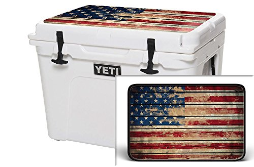 USATuff Wrap (Cooler Not Included) - Lid Kit Fits YETI 65qt Tundra - Protective Custom Vinyl Decal - Old Glory