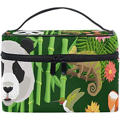 make-up zak goedkope dieren pan_da pauw tijger olifant papegaai make-up organisator