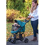 Pet Gear No-Zip Happy Trails Lite Pet Stroller for Cats/Dogs, Zipperless Entry, Easy Fold with Removable Liner, Storage Basket + Cup Holder, Pine Green (PG8030NZPGA) 7
