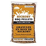 Smokehouse Products 9760-020-0000 5-Pound Bag All Natural Hickory Flavored Wood Pellets, Bulk