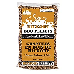 top 10 wood smokers lowes Smokehouse Products 9760-020-0000 5 lbs bag, all natural hickory flavor wood pellets, bulk