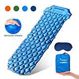 SYOURSELF Camping Sleeping Pads for Camping, Inflatable Sleeping Mat, Ultralight, Compact, Waterproof, Ultra Thick Backpacking Sleeping Pad, Air Mattress for Tent, Hiking, Car Traveling(Blue)