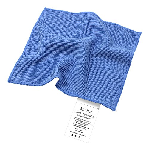 Mcsher Microfiber Cleaning Cloth, for Camera Lens Eyeglasses Cell Phone Tablet LED&LCD Screen Glasses Cleaner Cloths - Blue, 6x7 Inch (3)