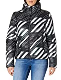 Superdry A4-Padded Chaqueta, Black AOP, M para Mujer