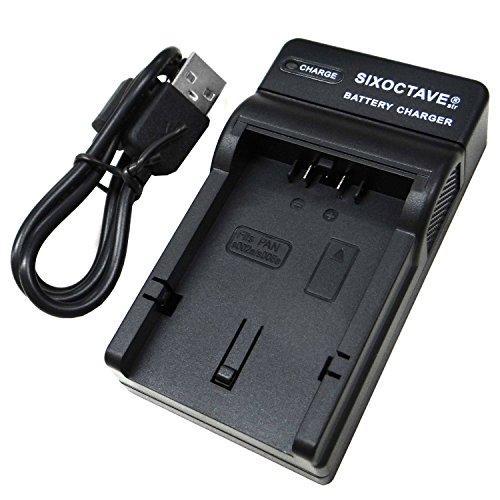 [SIXOCTAVE] Panasonic パナソニック DMW-BMA7 / DMW-BM7 対応急速互換USB充電器 バッテリー チャージャー DE-A43AD [メーカー純正互換ともに対応] LUMIX ルミックス DMC-FZ50 / DMC-FZ30 / DMC-FZ7 / DMC-FZ8 / DMC-FZ18 / DMC-FZ38 / DMC-FZ28 等デジタルカメラ バッテリーパック 対応