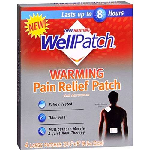 WellPatch Deep Heating Warming Patch - 4 ct, Pack of 4