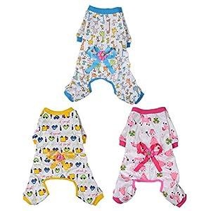Generic Pyjama Coton Doux Combinaison Cartoon Vêtements de Nuit Pour Chiot Petit Chien Animaux
