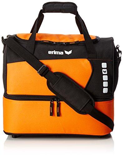 erima Sporttasche mit Bodenfach, Orange/Schwarz, 40 x 25 x 35 cm, 40 Liter, 723364