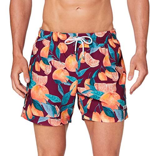 BOSS Herren Lemon Shark Boardshorts, Open Purple541, S