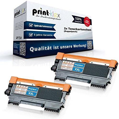 2x Alternative Tonerkartuschen für Brother DCP 7055 DCP 7055W DCP 7057 TN2010 TN 2010 XXL - Doppelpack