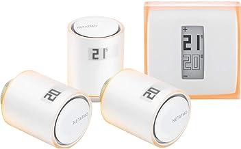 Termostato inteligente Netatmo + 3 válvulas Kit