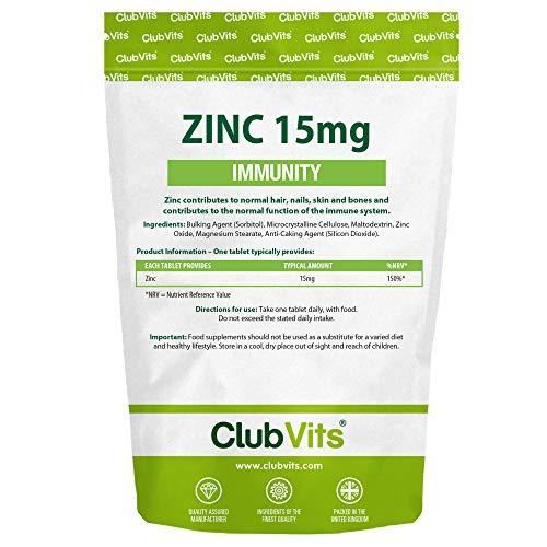 Club Vits Zinc 15mg - 365 Tablets