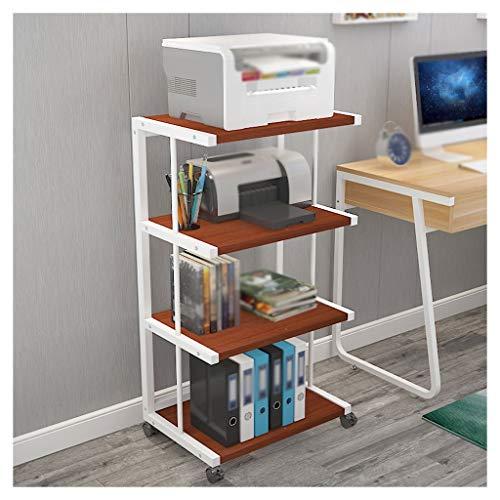 Soporte para ImpresoraOrganizador Estante de la trituradora de papel de la copiadora fija del soporte del pie fijo de 4 capas del pie, usado para la sala de estar de la sala de estar de la oficina. So