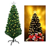 Unomor Artificial Christmas Tree with Multi-Color and Tree Star-Evergreen Pine Tree 4FT