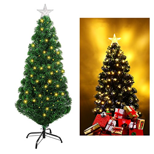 Unomor Fiber Optic Christmas Artificial Tree - 4 Feet