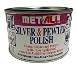 Met-all Silver sterlin Pewter Polish Instantly Shines, Cleans, Polishes Silverwares, Trophies,...