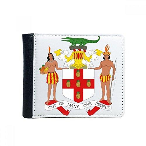 DIYthinker Flip Jamaika Nordamerika National Emblem Bifold Kunstleder Geldbörse Multi-Funktions-Karten-Geldbeutel-Geschenk