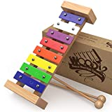 AGREATLIFE Wooden Xylophone for Kids | Child-Safe Kids Xylophone That Produces Harmonious Sound with Printed Songbook - Well Crafted Package for The Classic Xylophone Designed for Presents