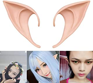 COOLJOY 1 Pair Cosplay Fairy Pixie Elf Ears Accessories Halloween Party Anime Party Costume (Light Complexion)