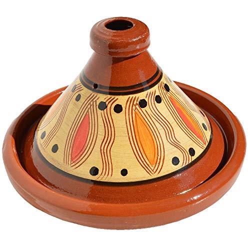 Marokkanische Tajine Ø 30 cm glasiert zum Kochen für 4 bis 5 Personen | Handgefertigt Tontopf Gartopf Schmortopf aus Marrakesch