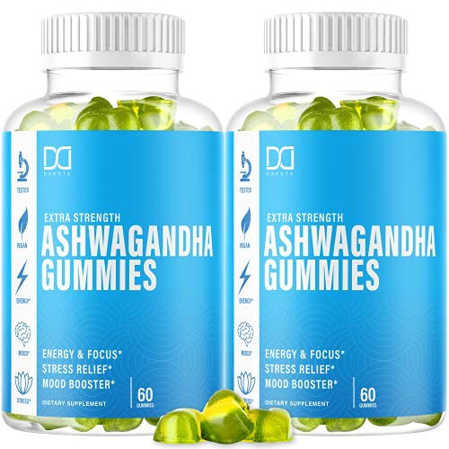 Ashwagandha Gummies with Organic Root Powder Extract Supplements, Ashawanga for Stress Relief Aid, Sleep Calm Mood Energy Chewable Gummy Vitamins for Women Men - Alt to Capsules Liquid Drops (2 Pack)