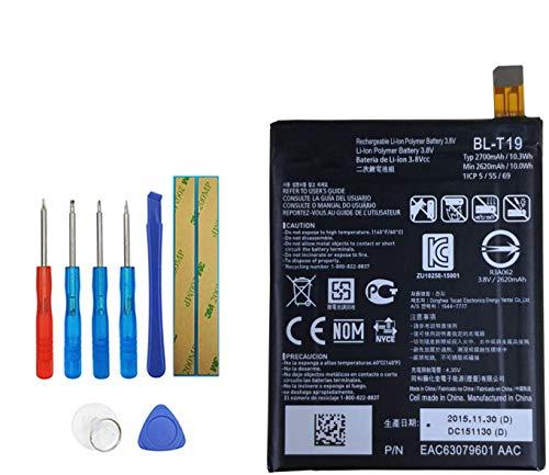 Upplus BL-T19 Batería de repuesto compatible con Google Nexus 5X H791 H790 con kit de herramientas 2620 mAh 3,8 V