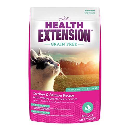 Health Extension Grain Free Dry Kitten & Adult Cat Food - Turkey & Salmon Recipe