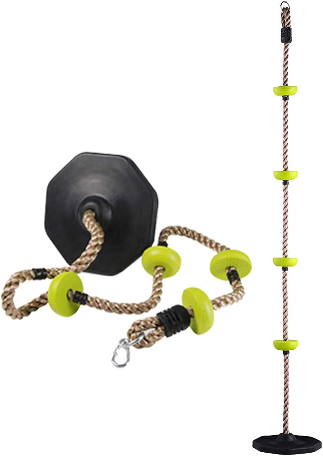 Eggdel Four Knotted Climbing Pp Rope with Rubber Base for Enfants-vert