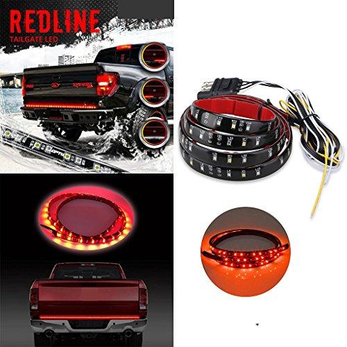 Caxmtu Redline Lampe de hayon LED 152,4 cm pour camion, pickup, clignotant, frein de marche arrière, lueur résistante aux intempéries