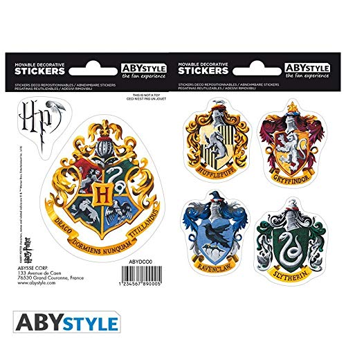 ABYstyle - HARRY POTTER - Stickers - 16x11cm- Hogwarts Houses