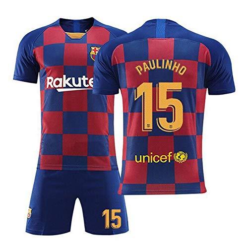 FRYP 19-20 Fußball-Uniformen - Barcelona Heim-Fußball-Set für Kinder mit Benutzerdefinierten Trikots-number15-XL