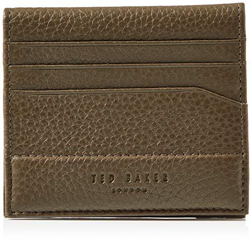 Ted Baker Men's 0 Travel Accessory-Bi-Fold Wallet, Olive, One Size