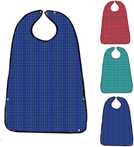 Adult Bibs for Eating 3 Pack Washable Reusable Waterproof Clothing Protector with Crumb Catcher product image