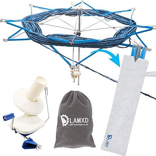 LAMXD Yarn Ball Winder and Yarn Umbrella Swift