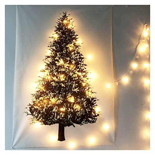 Decoraciones de Navidad Decoración del Hogar Navidad Árbol Verde Tapiz Colgante de Pared Paño de Navidad (Color: A)