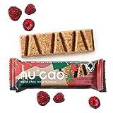 nucao white -Raspberry Crisp- Vegane Weiße Choc mit Bio Nährstoffkick aus crunchy Hanfsamen & cremiger Tigernuss [Nachhaltig Plastikfrei]