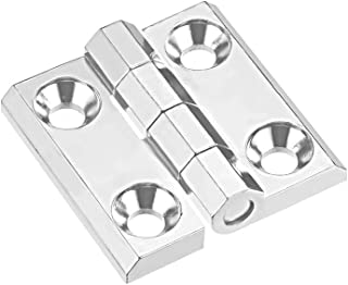 Xigeapg Stainless Steel Glass Door Pivot Hinge Double Head Magnetic Catch Set for 5-8Mm Glass Door