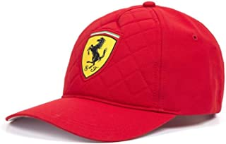 Scuderia Ferrari F1 Red Quilt Stitch Hat Cap