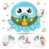 Baby Bath Bubble Toy Automatische Maschine Octopus Kleinkind Toy Maker Reim für Baby Infant Blue