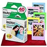Fujifilm instax Square Instant Film (40 Exposures) for SQ6, SP-3, SQ20...