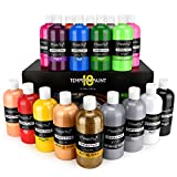 Magicfly 18 Colors Tempera Paint Set for Kids, Large Volume, Non-Toxic Washable Color (Basic, Neon, Glitter, Metallic...