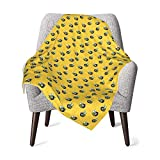 Bee Honeycomb Unisex Baby Plush Receiving Blankets 30x40in for Boys and Girls
