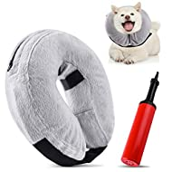 WXJ13 Inflatable Dog Cone Pet Protective Inflatable Collar, Pet Protection Cover Collar, Adjustable ...
