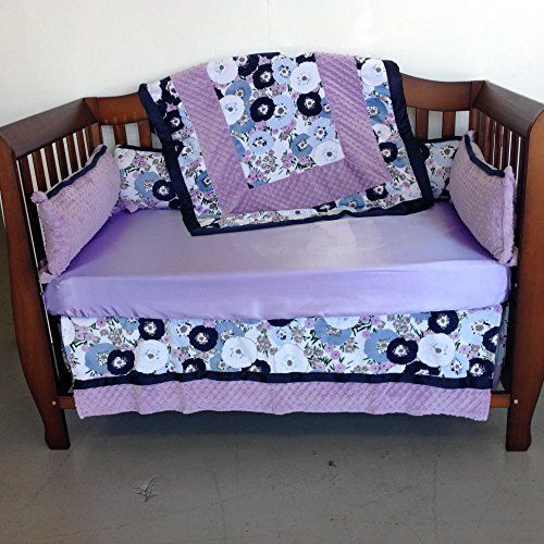 Purchase Crib Set 4pc/ Nursery Bedding/Blossom Blueshell